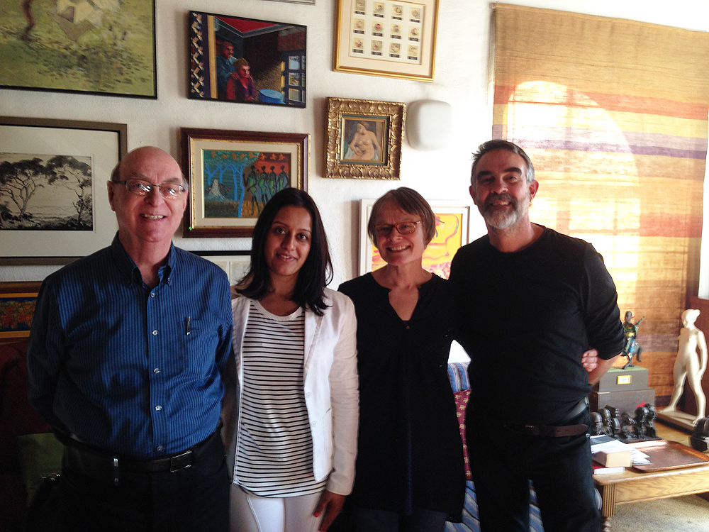 Click the image for a view of: Jack Ginsberg, Faheema Mayet, Elizabeth James and David Paton