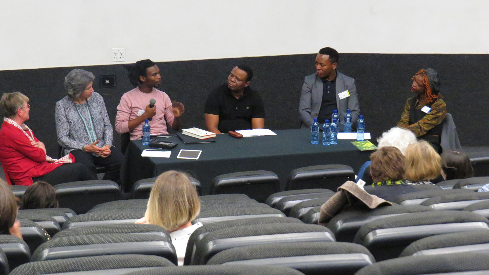 Click the image for a view of: Muzi Gigaba speaking at the roundtable: South African book arts as a democratic force. Sunday 26 March