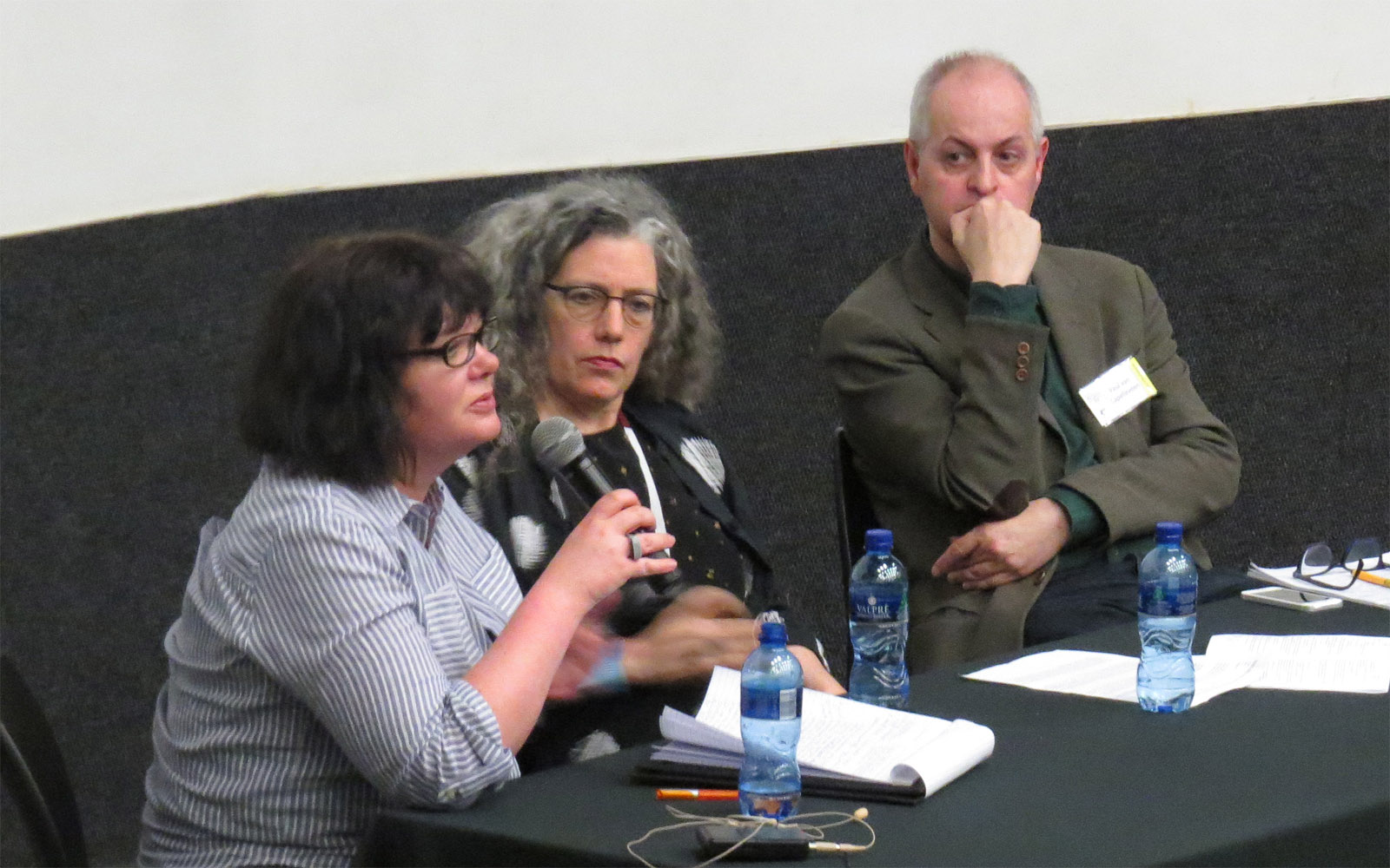 Click the image for a view of: Sarah Bodman (CFPR, Bristol, UK); Robbin Ami Silverberg (Dobbin Mill & Books New York) and Paul van Capelleveen (Koninklijke Bibliotheek, The Netherlands) close the Colloquium. Sunday 26 March
