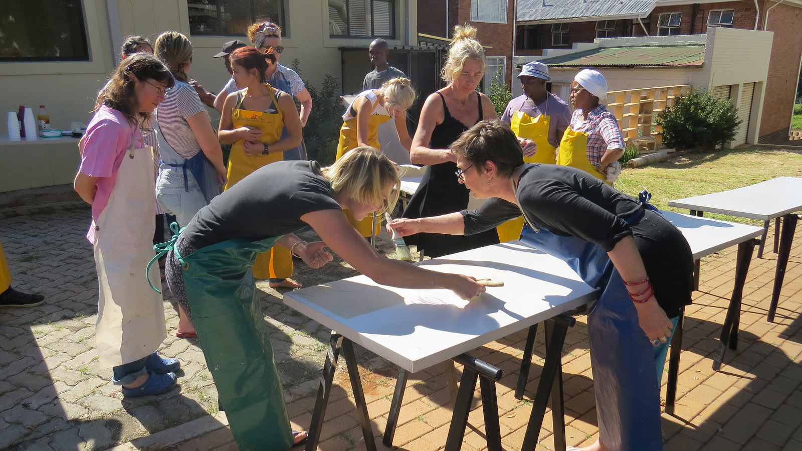 Click the image for a view of: Papermaking Workshop. Phumani Paper. Tuesday 21 March