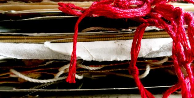 Click the image for a view of: The Book of Ether (detail): Cheryl Penn (RSA) & Marie Wintzer (Japan) Medium: Mixed media